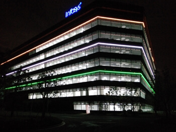 DMX led line lights for Shanghai Infosys software center