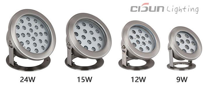 waterproof fountain lights