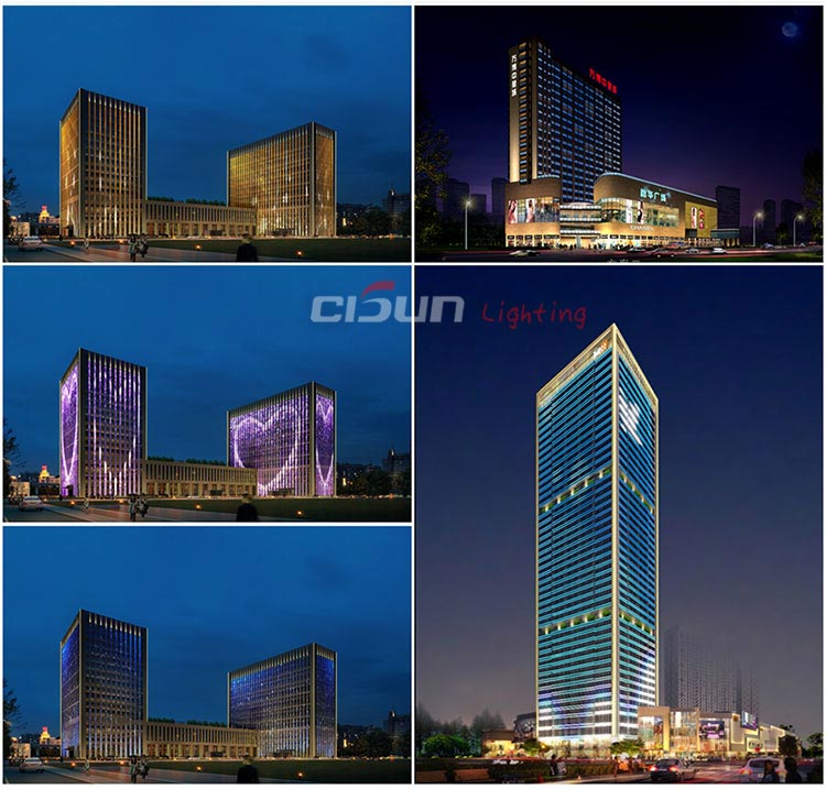 Architectural facade led lighting